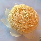 """Украшения ручной работы. Ярмарка Мастеров - ручная работа Брошь-заколка """"Желтый цветок"""" Зажим, заколка. Handmade."""