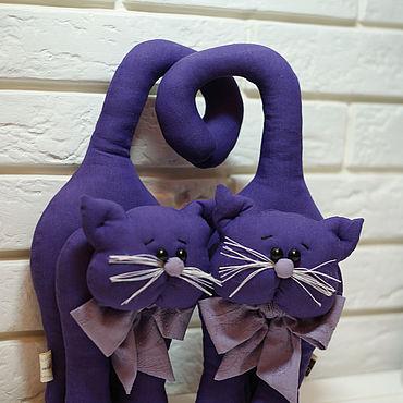 Интерьерная игрушка Коты, текстильная игрушка, подарок