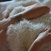 Украшения ручной работы. Ярмарка Мастеров - ручная работа Кожаный браслет Crocococoa. Handmade.