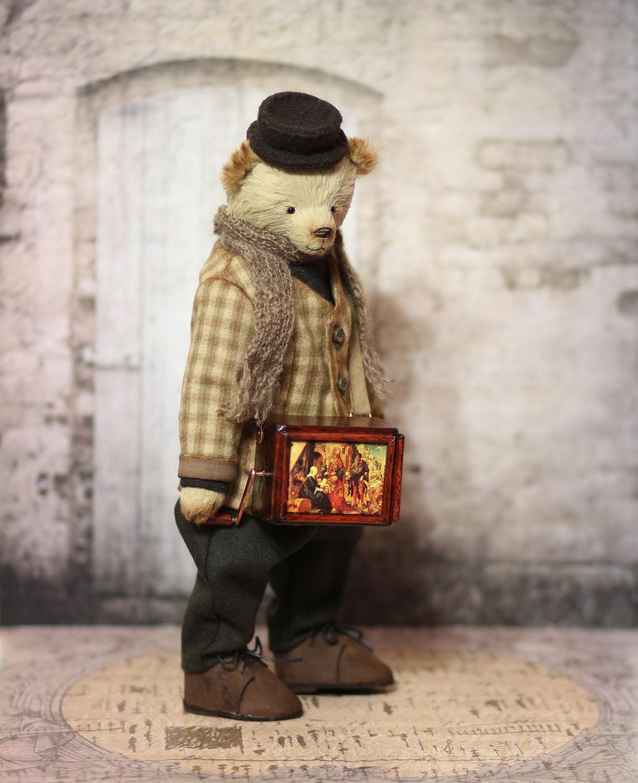 Авторский коллекционный мишка Карло 27 см, Игрушки, Рязань, Фото №1