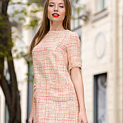 Одежда ручной работы. Ярмарка Мастеров - ручная работа Платье в стиле Шанель цвета шампанского. Handmade.