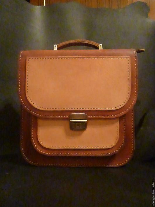 Мужские сумки ручной работы. Ярмарка Мастеров - ручная работа. Купить Мужской портфель рыже-натурального цвета. Handmade. Рыжий