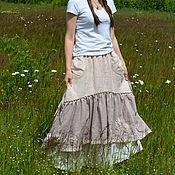 """Одежда ручной работы. Ярмарка Мастеров - ручная работа Комплект юбочек в пол """"Цветы и травы. Пион"""". Handmade."""