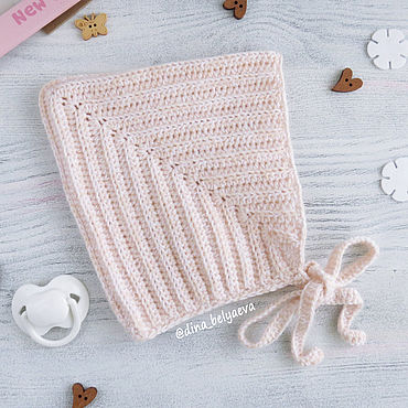 Clothing handmade. Livemaster - original item Knitted baby hat for girls warm milk. Handmade.