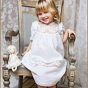 Работы для детей, ручной работы. Ярмарка Мастеров - ручная работа Крестильное платье Катерина. Handmade.