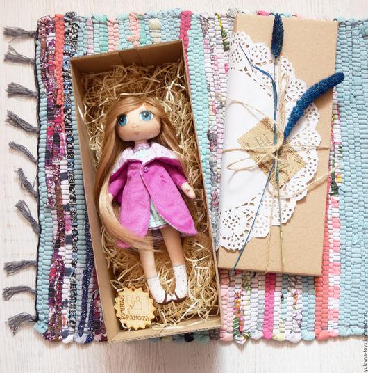 Человечки ручной работы. Ярмарка Мастеров - ручная работа. Купить Текстильная кукла Машенька. Handmade. Фиолетовый, кукла текстильная, фуксия