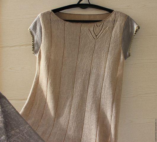 Платья ручной работы. Ярмарка Мастеров - ручная работа. Купить Элегантное Бохо (вязаное льняное платье). Handmade. Авторская работа
