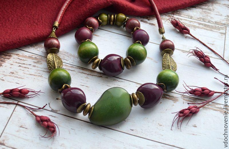 Jewelry set 'Wine berry' (necklace-choker & bracelet), Jewelry Sets, Kolomna,  Фото №1
