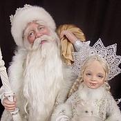 Куклы и игрушки ручной работы. Ярмарка Мастеров - ручная работа Дед Мороз и Снегурочка (по мотивам)ПРОДАНО. Handmade.