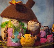 Куклы и игрушки ручной работы. Ярмарка Мастеров - ручная работа Сказка Колобок Пальчиковый театр. Handmade.