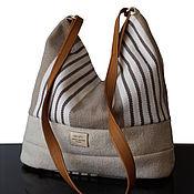 Сумки и аксессуары handmade. Livemaster - original item Bag: French Canvas Bag made of canvas and genuine leather. Handmade.