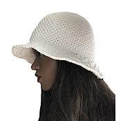 Аксессуары handmade. Livemaster - original item Panama: White hat-Panama Alania. Handmade.