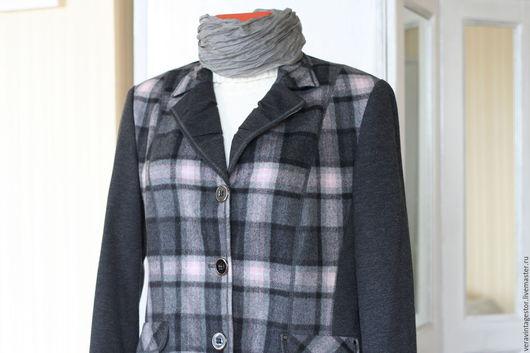 Большие размеры ручной работы. Ярмарка Мастеров - ручная работа. Купить 25 Пиджак из мериносовой шерсти 50 52. Handmade.