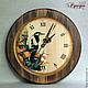 """Часы для дома ручной работы. Ярмарка Мастеров - ручная работа. Купить Часы настенные """"Дятел"""".. Handmade. Коричневый, часы из дерева"""