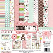 Материалы для творчества ручной работы. Ярмарка Мастеров - ручная работа Набор бумаги  Bundle of Joy Girl Collection Kit 30х30. Handmade.