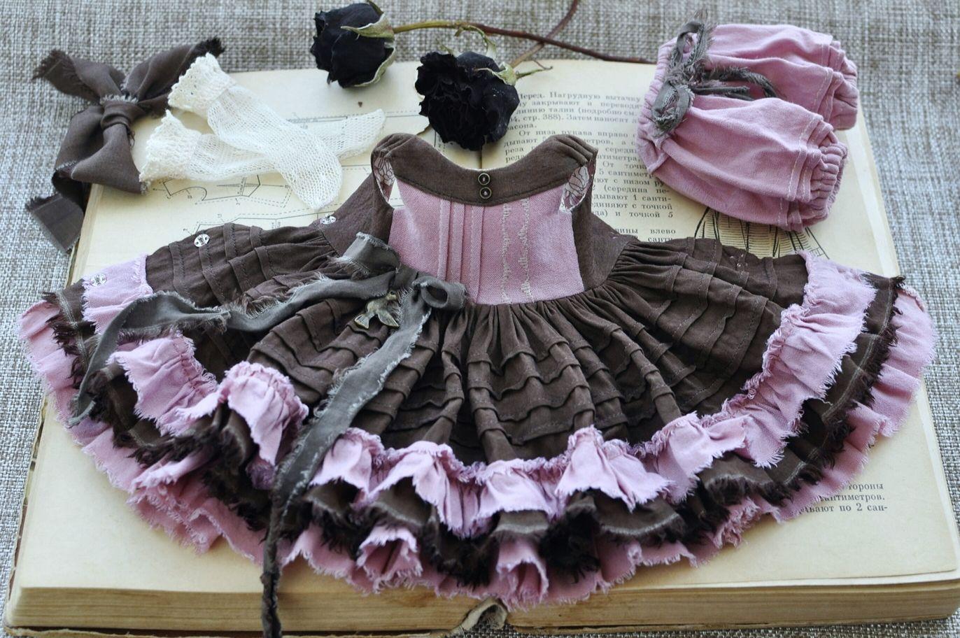 Платье для куклы БЖД Имда 3.0, BJD iMda 3.0 Винтажное платье, Одежда для кукол, Таганрог,  Фото №1