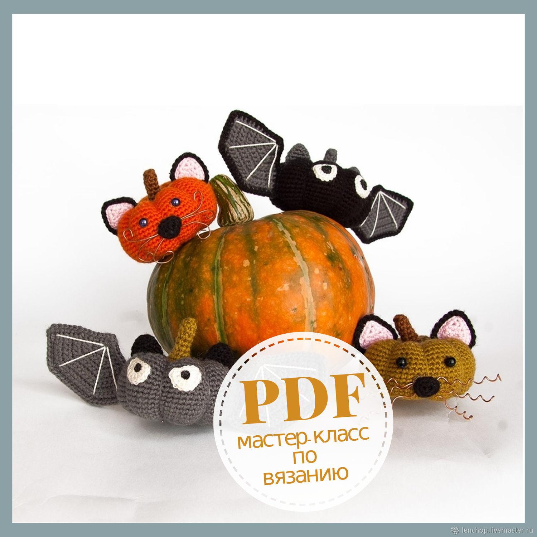 Amigurumi Halloween Pattern. Crochet Pumpkin bats & cats. Fall DIY, Knitting patterns, Barnaul,  Фото №1