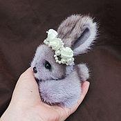 Куклы и игрушки handmade. Livemaster - original item Little Bunny from fur mink.. Handmade.