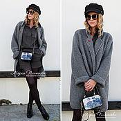 Одежда ручной работы. Ярмарка Мастеров - ручная работа пальто вязаное цвета Christian Gray. Handmade.