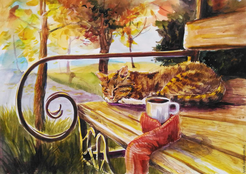 Открытки день, осенние рисованные картинки с добрым утром