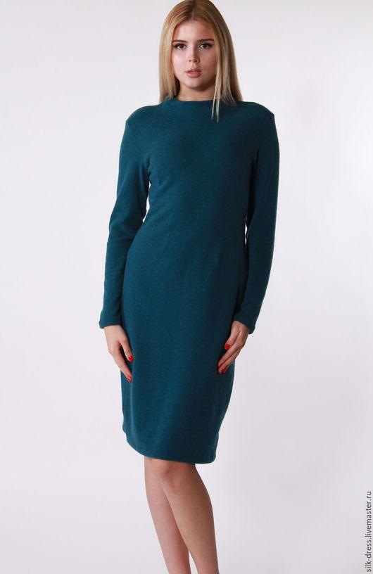 Платья ручной работы. Ярмарка Мастеров - ручная работа. Купить Платье из шерсти темно бирюзового цвета. Handmade. Тёмно-бирюзовый