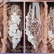 """Свадебный салон ручной работы. Ярмарка Мастеров - ручная работа Свадебные бокалы """"Дарин"""". Handmade."""