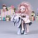 Коллекционные куклы ручной работы. Ярмарка Мастеров - ручная работа. Купить Два билета в лето.... Handmade. Кремовый, розовый
