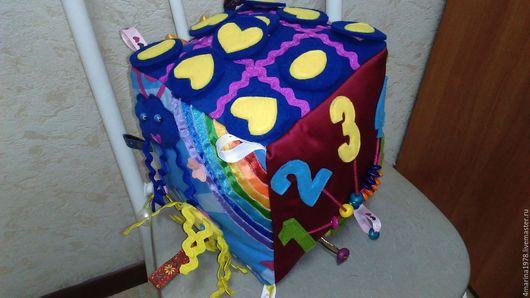 Развивающие игрушки ручной работы. Ярмарка Мастеров - ручная работа. Купить Развивающий кубик. Handmade. Комбинированный, ручная работа, фетр