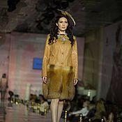 Одежда ручной работы. Ярмарка Мастеров - ручная работа Пальто с мехом рыжей лисы. Handmade.
