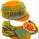 Шляпы ручной работы. Заказать Жокейка. Одерова Алла (chapelier). Ярмарка Мастеров. Оранжевый, однотонный, фетр, соломка