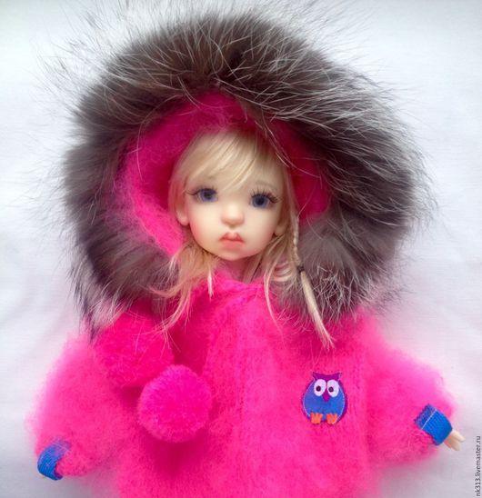 Одежда для кукол ручной работы. Ярмарка Мастеров - ручная работа. Купить Комплект одежды для куклы.. Handmade. Розовый, шубка, варежки