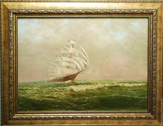 Пейзаж ручной работы. Ярмарка Мастеров - ручная работа. Купить .Клиппер-1.картина маслом на холсте.морской пейзаж.классика.. Handmade.