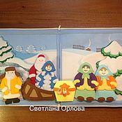 """Мягкие игрушки ручной работы. Ярмарка Мастеров - ручная работа Игровой планшет """"Зимние сказки"""". Handmade."""