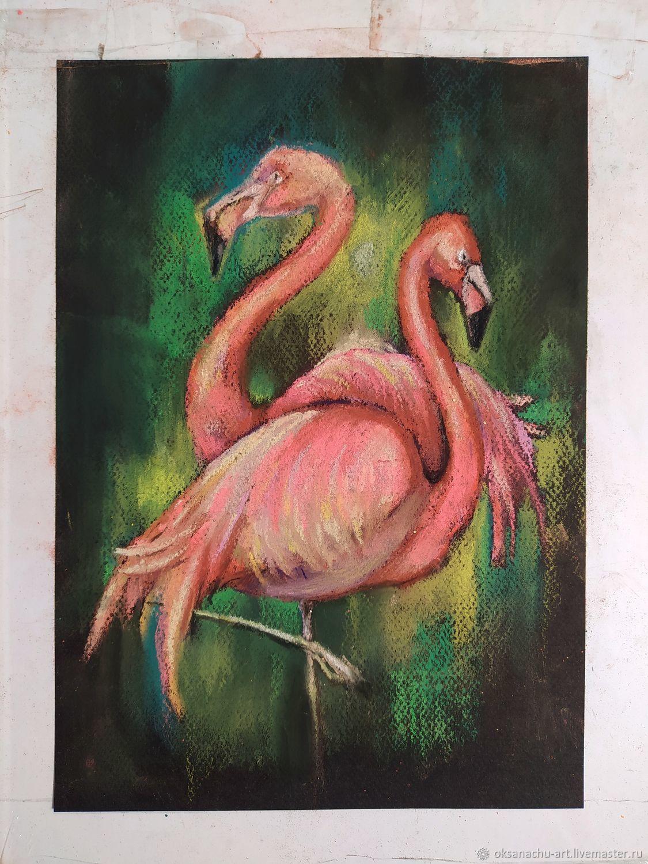 Розовые фламинго, Картины, Королев,  Фото №1