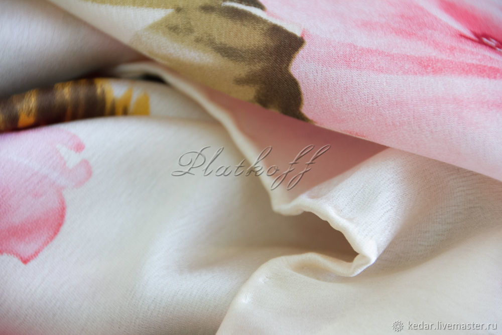 Silk scarf from DIOR fabric 'Squirrel in the roses', Shawls1, Moscow,  Фото №1