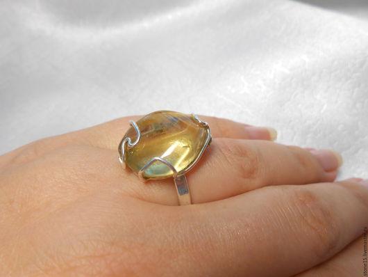 """Кольца ручной работы. Ярмарка Мастеров - ручная работа. Купить Кольцо с природным цитрином """"Ажурное"""". Handmade. Желтый, кольцо с цитрином"""