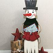 Для дома и интерьера ручной работы. Ярмарка Мастеров - ручная работа Снеговик интерьерный. Handmade.