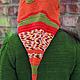 Капюшоны ручной работы. Капюшон-колпак-шарф оранжевый. Елена Летняя. Интернет-магазин Ярмарка Мастеров. Колпак, колпак капюшон