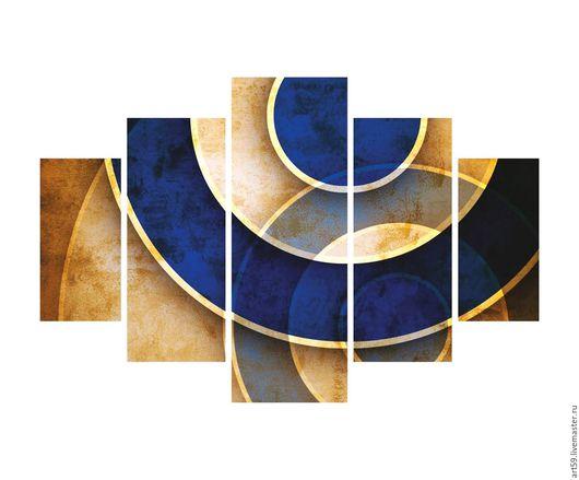 """Абстракция ручной работы. Ярмарка Мастеров - ручная работа. Купить полиптих-абстракция  """"Фантазия"""". Handmade. Комбинированный, триптих, абстрактная картина"""