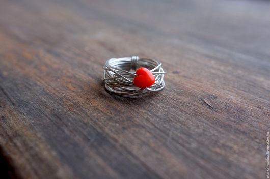 """Кольца ручной работы. Ярмарка Мастеров - ручная работа. Купить Кольцо из проволоки """"Любовь"""". Handmade. Кольцо, кольцо из металла"""