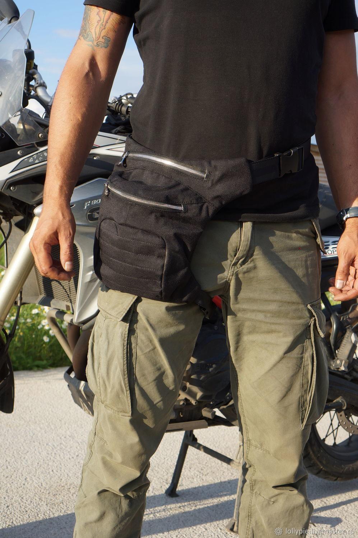 Textile Leg Hip Bum Waist Rider Bag, Men\'s bag, Moscow,  Фото №1