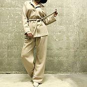 Одежда ручной работы. Ярмарка Мастеров - ручная работа Костюм в пижамном стиле MIEL. Handmade.