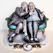 Винтаж handmade. Livemaster - original item Statuette Gossips Capodimonte G. Cappe 1959. Handmade.