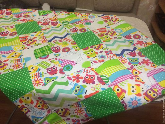 Пледы и одеяла ручной работы. Ярмарка Мастеров - ручная работа. Купить Лоскутное одеяло. Handmade. Ярко-зелёный, одеяло пэчворк