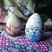Сувениры и подарки ручной работы. Ярмарка Мастеров - ручная работа Яйцо-неваляшка с колокольчиком. Handmade.