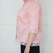 Одежда ручной работы. Ярмарка Мастеров - ручная работа Блуза розовая с кружевом. Handmade.