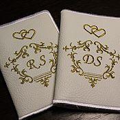 Обложки ручной работы. Ярмарка Мастеров - ручная работа Обложки:Парные обложки на паспорта. Handmade.