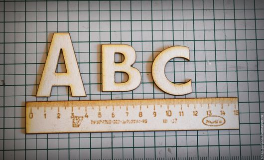 Открытки и скрапбукинг ручной работы. Ярмарка Мастеров - ручная работа. Купить Чипборд Линейка и буквы. Handmade. Белый, картон пивной