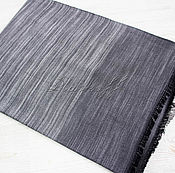 Аксессуары handmade. Livemaster - original item Grey striped scarf