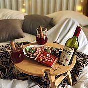 Изделия ручной работы. Ярмарка Мастеров - ручная работа Складной винный столик «светлый дуб». Handmade.